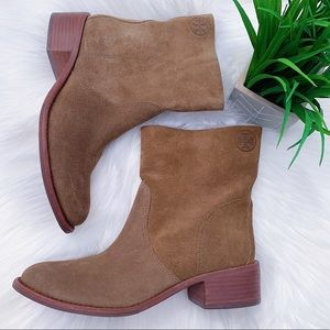 TORY BURCH Authentic Siena Suede Booties $385
